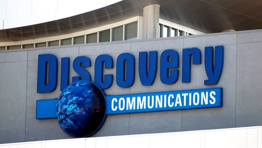 FILE - This Sept. 1, 2010 file photo shows the Discovery Communications networks headquarters buildi