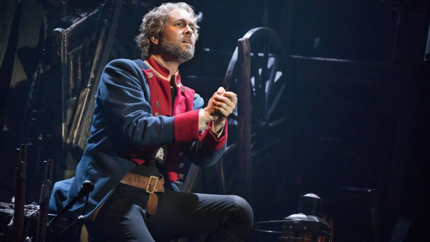 Nick Cartell as ?Jean Valjean' in the new national tour of LES MIS?RABLES. Credit: Matthew Murphy