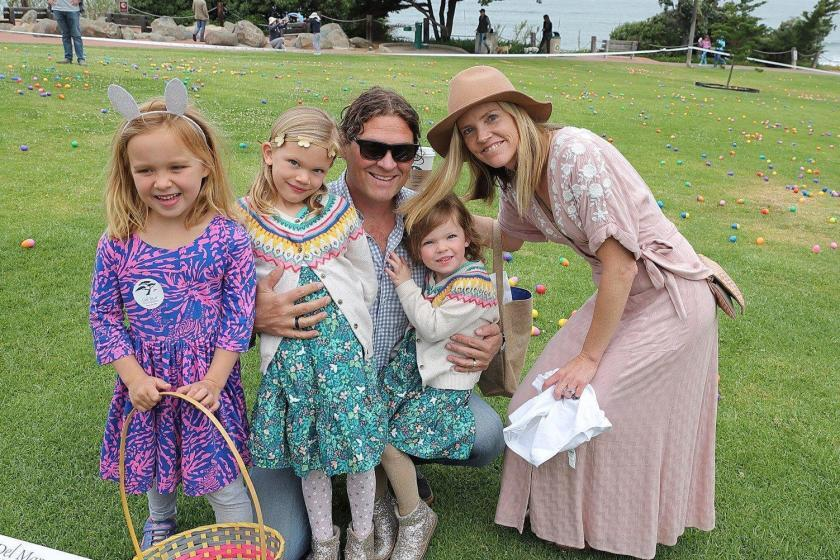 "The Walter/Stevens family at the Del Mar Foundation's Annual Easter Egg Hunt held last year. This year the event will be a ""Social Distancing Easter Egg Hunt"" through Facebook."