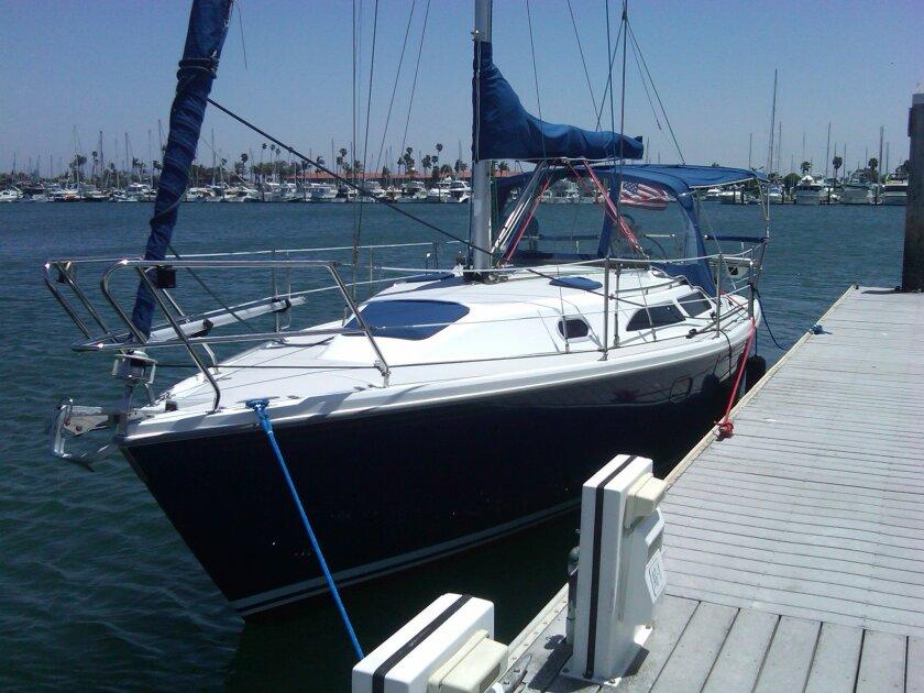 Richard Byhre's 28-foot sailboat, Princess.