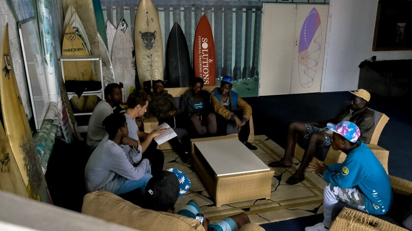 Tyler James is a volunteer mentor in Durban, South Africa with the organization Surfers Not Street Children.