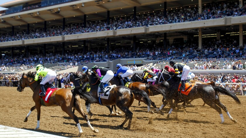 More than 40,000 spectators were on hand during the opening day of the Del Mar season Thursday.