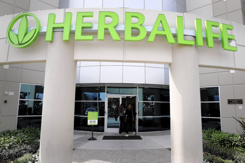 Herbalife's Los Angeles distribution center is seen in Carson.