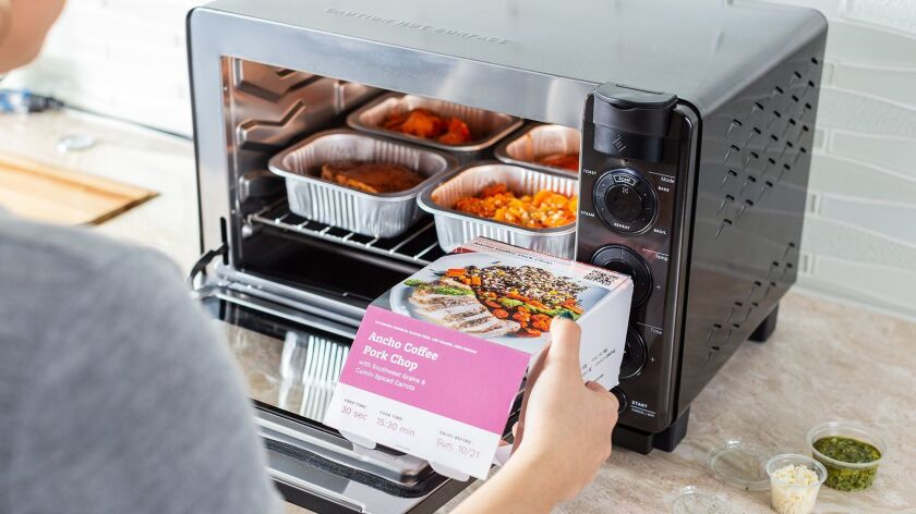 Tovala Steam Oven - A countertop oven that steams food comes with meal options to make healthy weekn