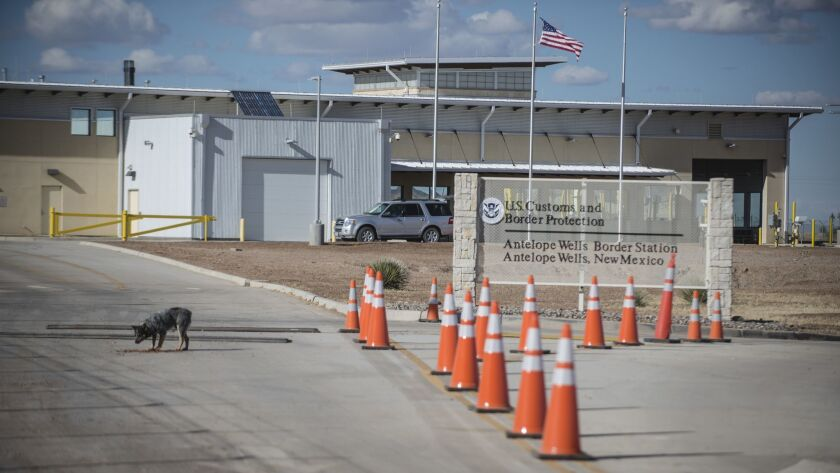 The Antelope Wells Port of Entry is seen from the El Berrendo, Mexico, side of the border with southern New Mexico.
