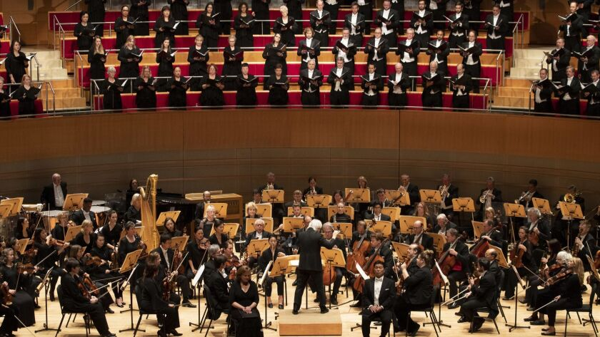 COSTA MESA, CALIF. -- THURSDAY, APRIL 12, 2018: Carl St. Clair conducts The Pacific Symphony and th