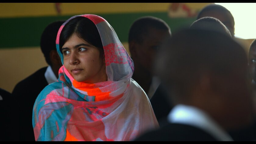 """He Named Me Malala"" features Malala Yousafzai, the Nobel Peace Prize Laureate, who at age 15, was wounded by the Taliban and subsequently became an advocate for educating girls. Courtesy photo"