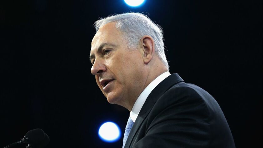 Israeli Prime Minister Benjamin Netanyahu Addresses The American Israeli Political Action Committee Conference