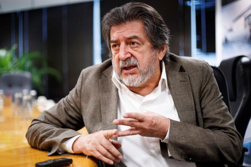 El director del Fondo Nacional de Fomento al Turismo (Fonatur), Rogelio Jiménez Pons, habla durante una entrevista con Efe en Ciudad de México (México). EFE/Archivo