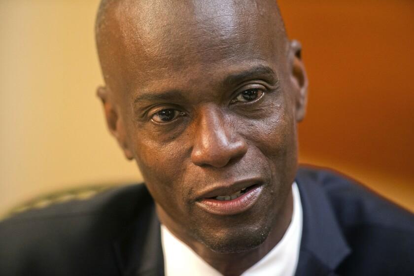 En esta imagen del 7 de febrero de 2020, el presidente de Haití, Jovenel Moïse