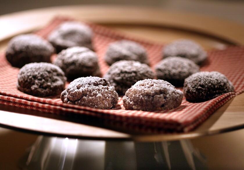 Chocolate sparkle cookies