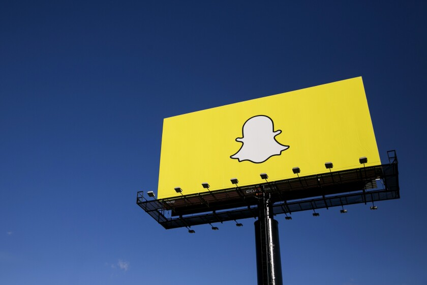 A billboard for Snapchat.