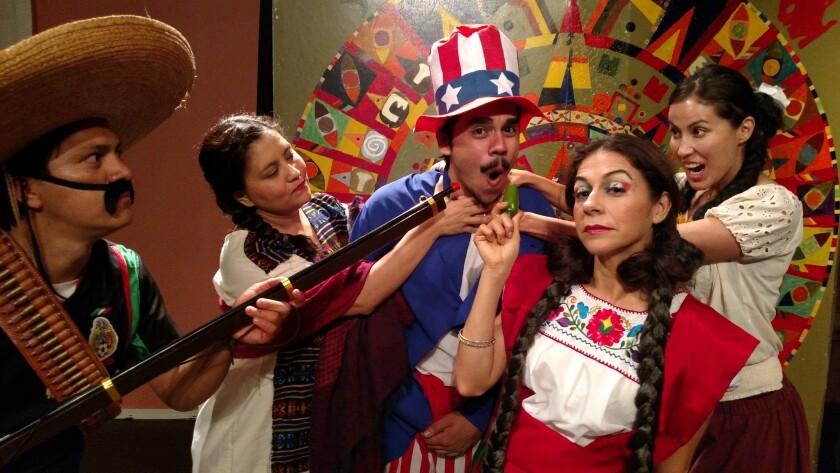 """""""Historia de Mexico para un idiota"""" se presenta hasta el 10 de julio en las instalaciones del Teatro Frida Kahlo, en el Centro de Los Ángeles."""