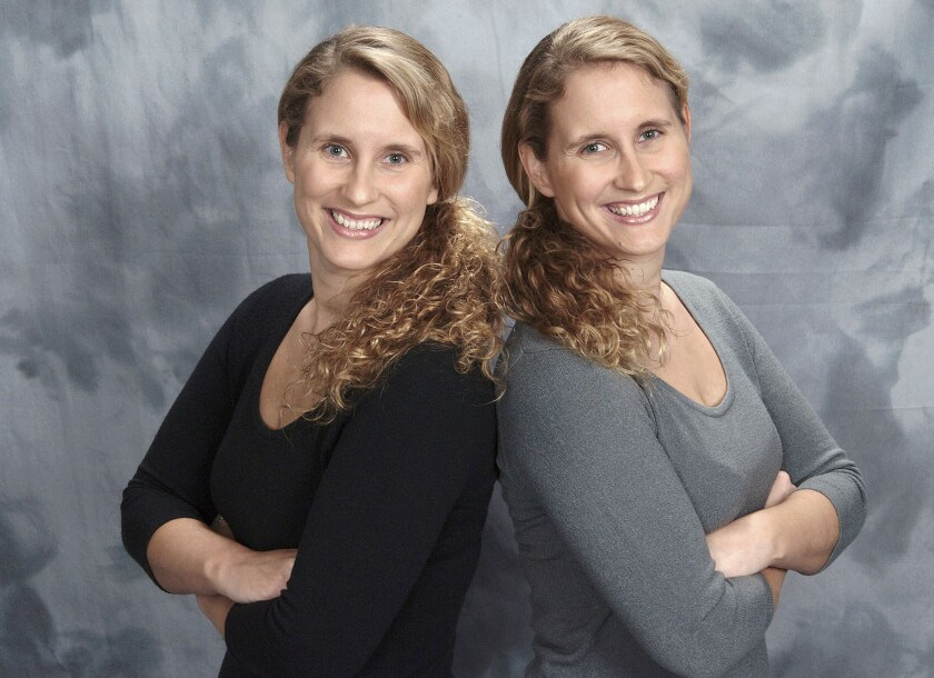 "Identical twins, Jamie, left, and Erin Schonauer, have compiled almost 200 historical photographs for their book ""Early Burbank"" being released on April 14."