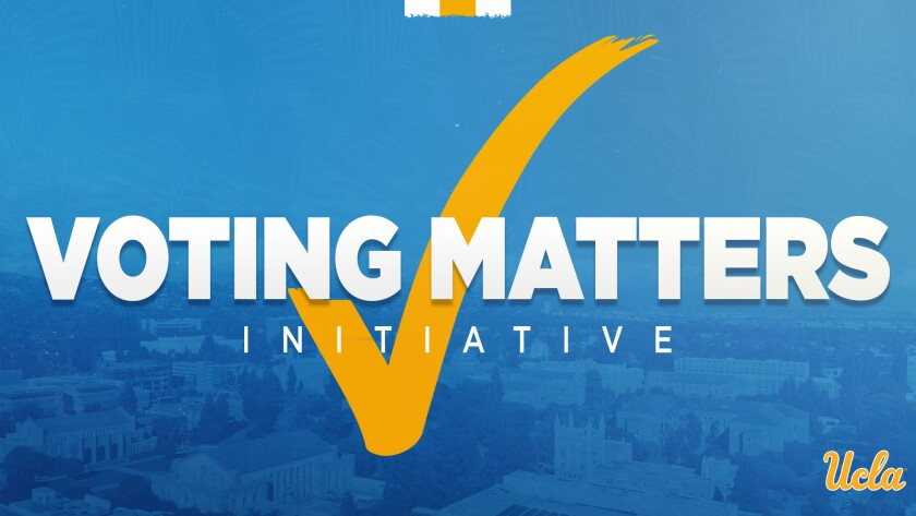 The UCLA athletic department introduced a Voting Matters Initiative on Tuesday.