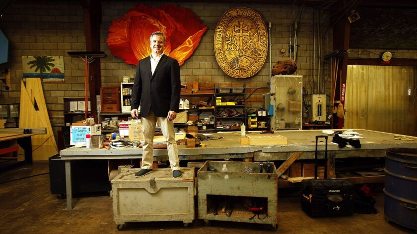 David Bennett, general director of the San Diego Opera, photographed in 2016 inside the company's Scenic Studio in Southeast San Diego.