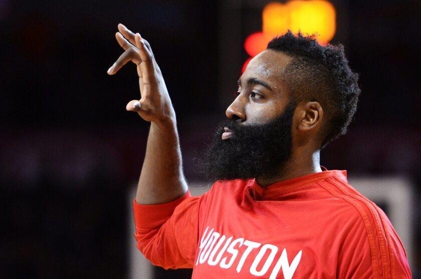 El jugador James Harden de los Rockets de Houston.