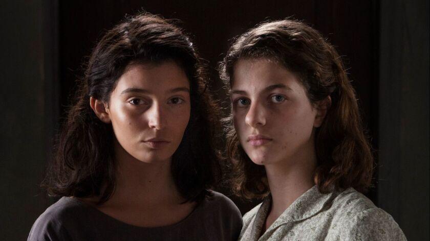 """(L-R) - Elisa Del Genio and Ludovica Nasti in a scene from """"My Brilliant Friend."""" Credit: Eduardo Ca"""
