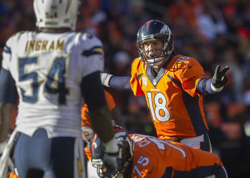 Peyton Manning controlling the show.
