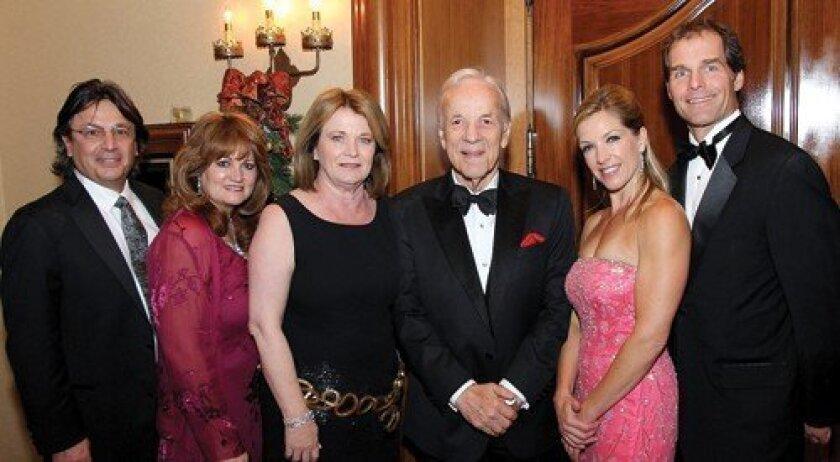 Dr. Marc Sedwitz, Scripps Memorial Hospital La Jolla chief of staff; Irene Sedwitz; Debbie Turner; Conrad Prebys; Mary and Joe Braunwarth (Photo: Jon Clark)