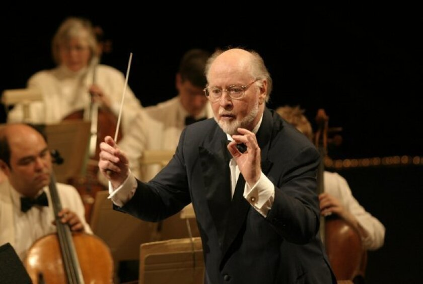 John Williams' career as a composer/conductor spans five decades. Though he is not expected to attend the concert in La Jolla where his latest composition will premiere, SummerFest officials are working to 'Skype' him into a rehearsal. Courtesy Boston Symphony Orchestral