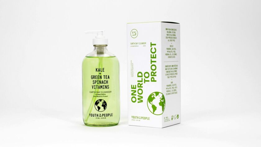 A large glass bottle of Superfood Cleanser from Youth To The People was released in time for Earth D