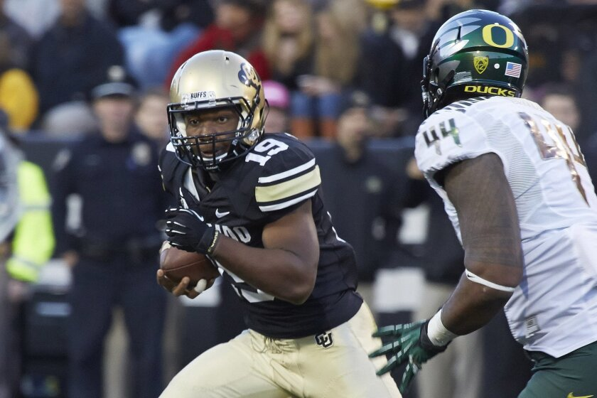 Colorado running back Michael Adkins had four TDs over the weekend.