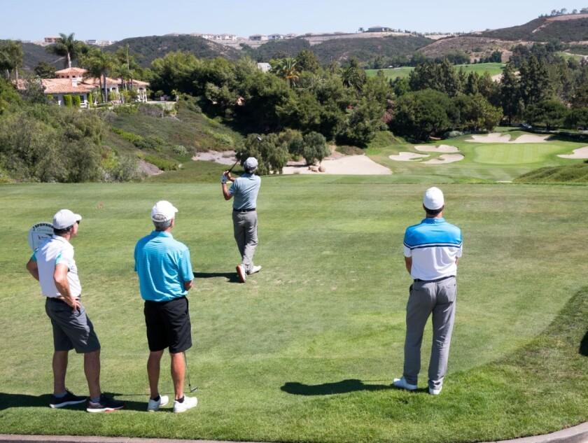 Golfers at Del Mar Country Club