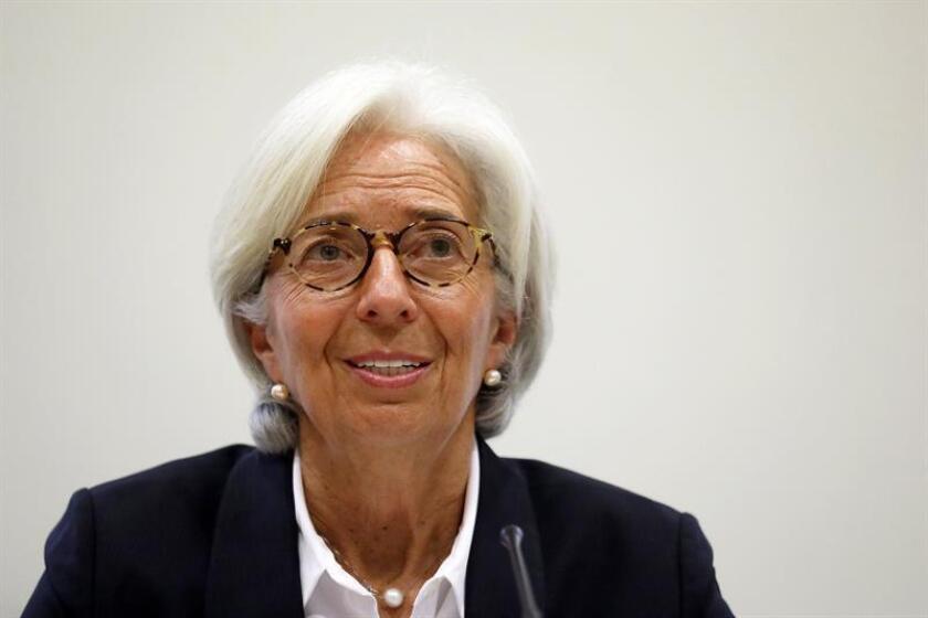 La directora del FMI, Christine Lagarde, durante una rueda de prensa. EFE/Pool