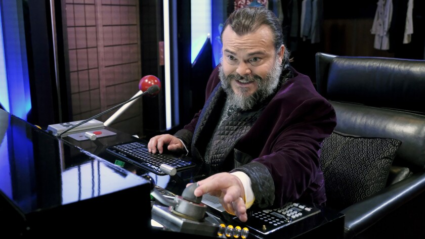 "Jack Black in ""Celebrity Escape Room"" on NBC."