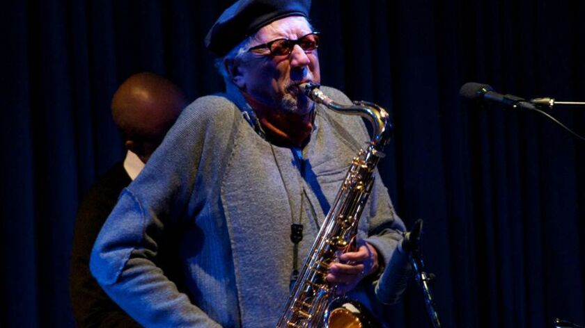 Saxaphonist Charles LLoyd is in performance at the Blue Note Tokyo, January, 2013. Photo Credit: D.