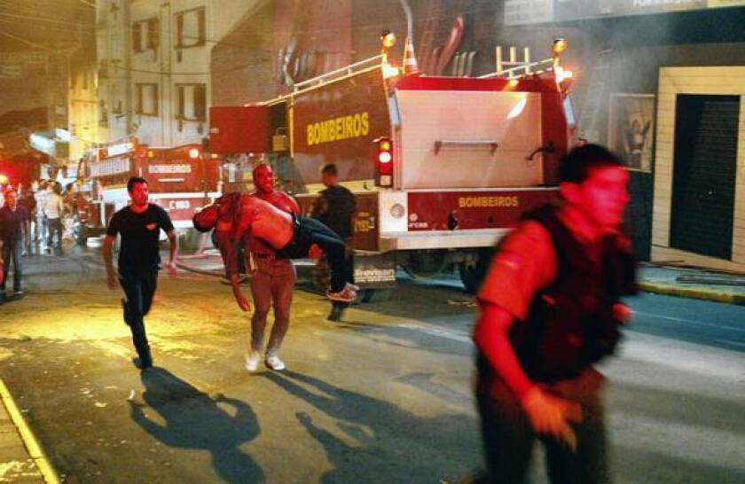 Fire survivors recall deadly chaos in Brazil club