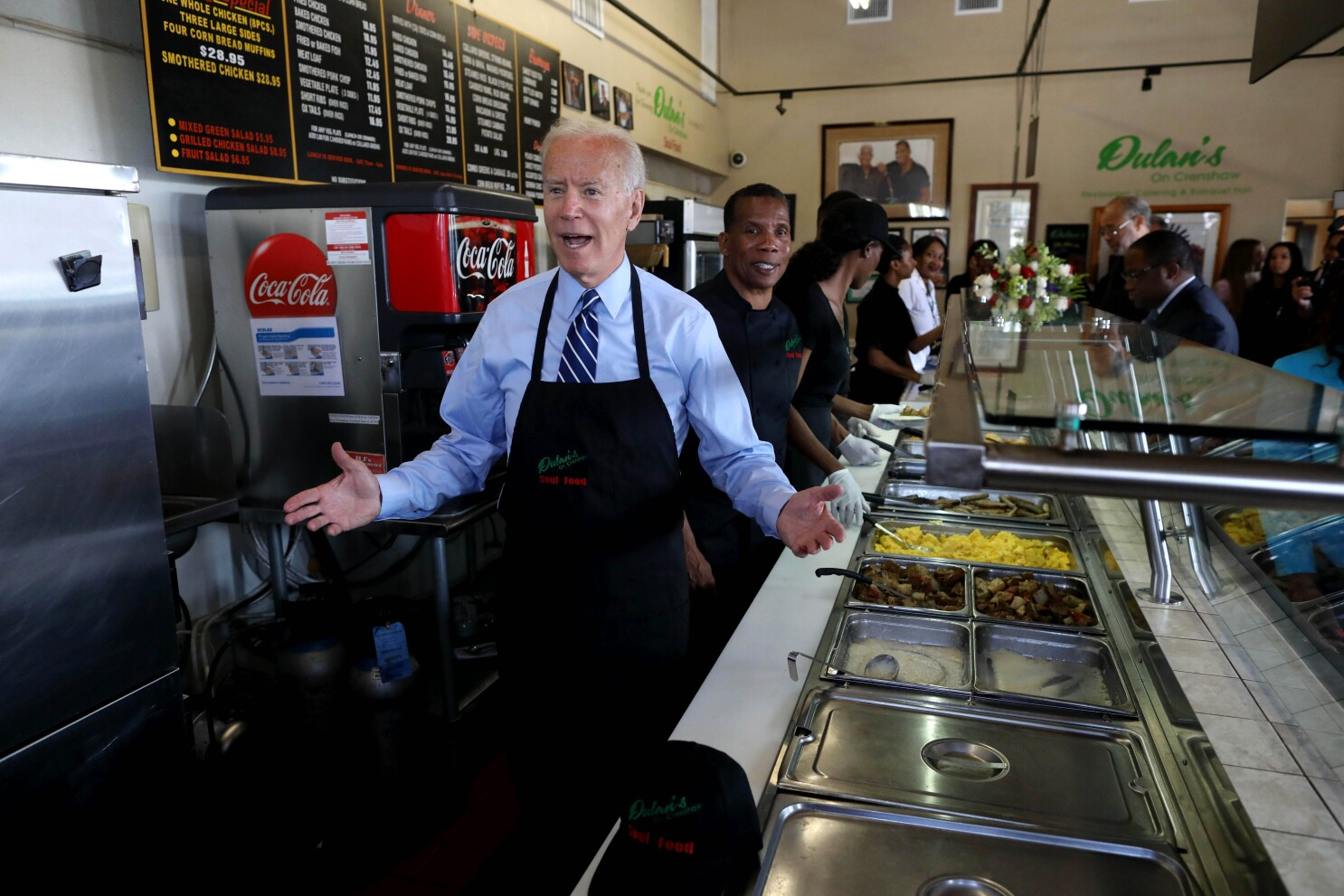 Trump's attacks on Ilhan Omar and other congresswomen are 'despicable,' Joe Biden says in L.A.