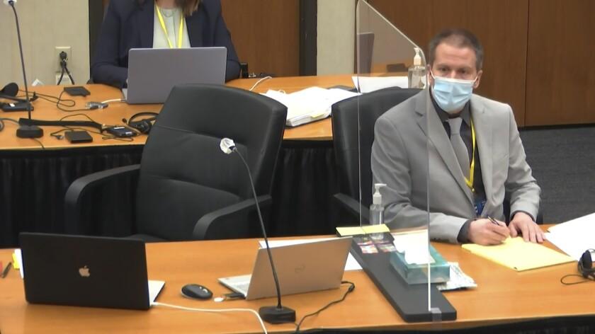 Former Minneapolis police Officer Derek Chauvin in court