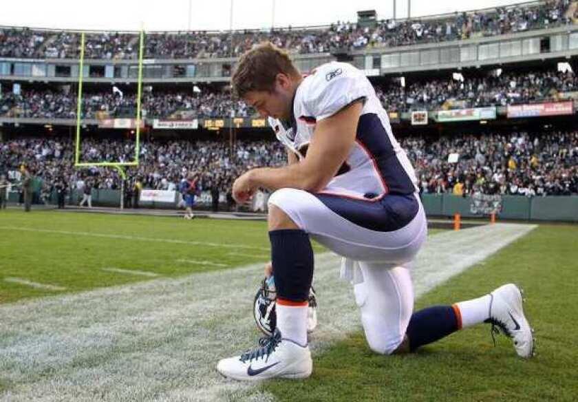 Tim Tebow, who was recently traded to the New York Jets, is in the middle of a licensing fight between Nike and Reebok.