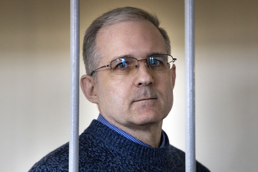 Paul Whelan in a Moscow courtroom in 2019