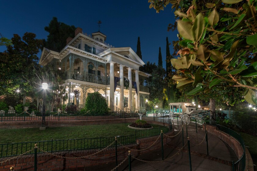 The Haunted Mansion ride in New Orleans Square at Disneyland Park in Anaheim celebrates its 50th anniversary on Aug. 9, 2019.