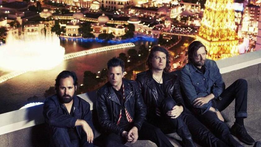 The Killers, from left: Ronnie Vannucci Jr., Brandon Flowers, Dave Keuning and Mark Stoermer. Williams + Hirakawa