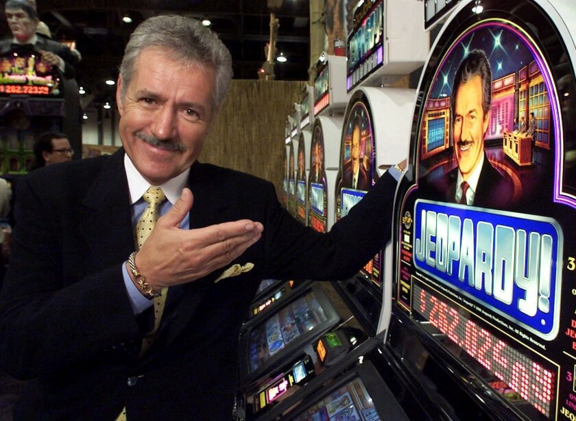 Alex Trebek, seen here in 2000