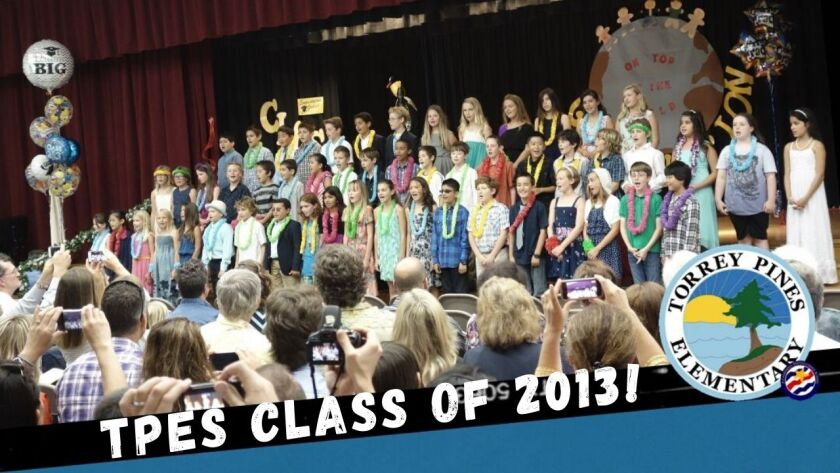 The Torrey Pines Elementary class of 2013, many of whom recently reunited as they graduated from high school.