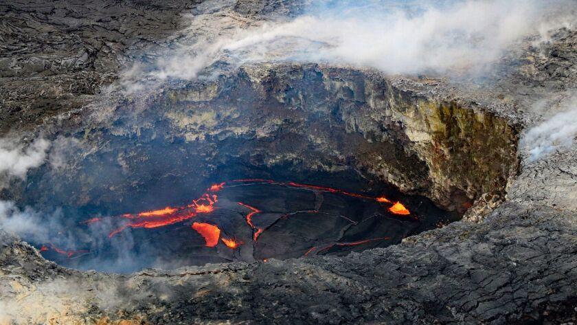 On the big island Hawaii, the Kiluea Volcano has been erupting for over 100 years. Doug Hansen photo