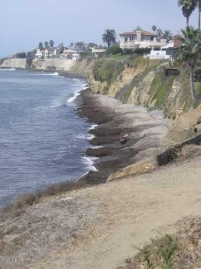 A view of the shoreline at Calumet Park in Bird Rock, near where a surfer was rescued June 21.