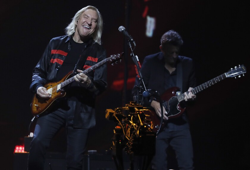 INGLEWOOD, CALIF.. - SEP. 12, 2018. Joe Walsh performs with the Eagles at The Forum in Inglewood on