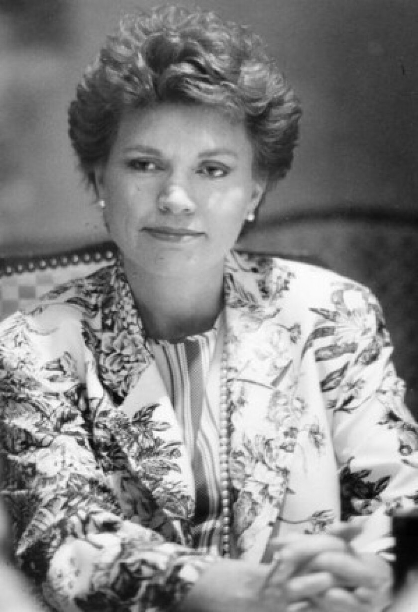Elizabeth Clare Prophet, seen in 1991, was the retired spiritual leader of the Church Universal and Triumphant.