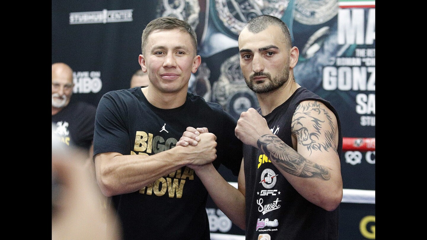 Photo Gallery: Press event at Glendale Fighting Club for May 5 bout with Vanes Martirosyan and Gennady Golovkin