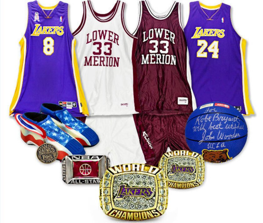 Some of Kobe Bryant's memorabilia up for auction will be on display at the Newport Sports Museum in Newport Beach.