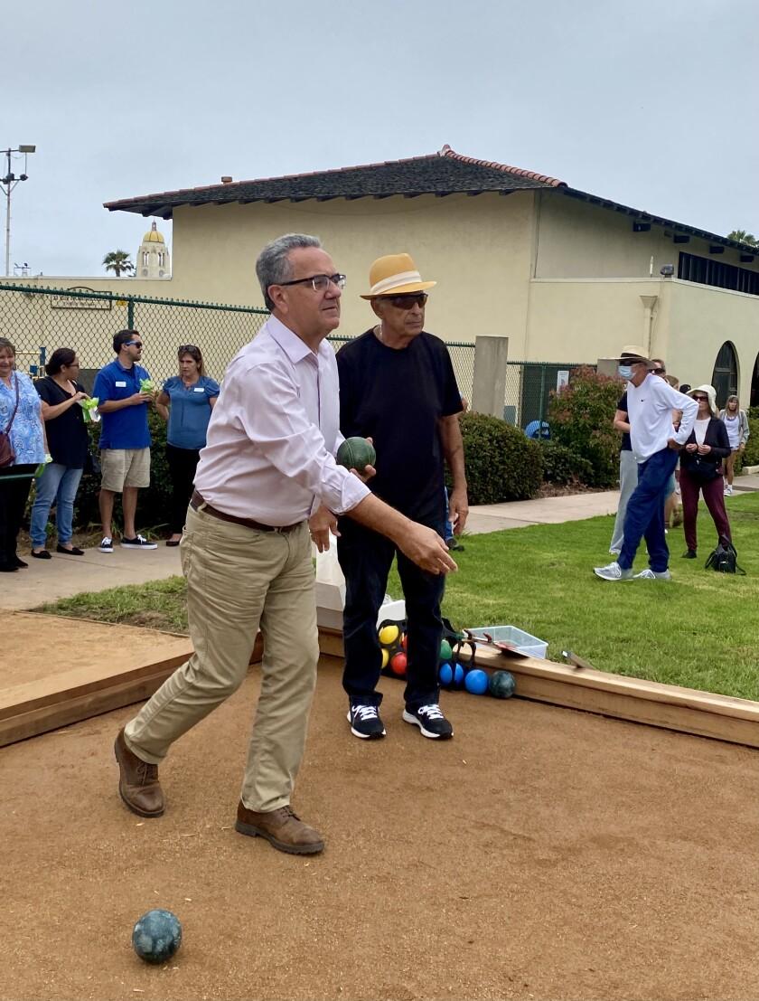 San Diego City Councilman Joe LaCava, left,and Vito Formica, right.