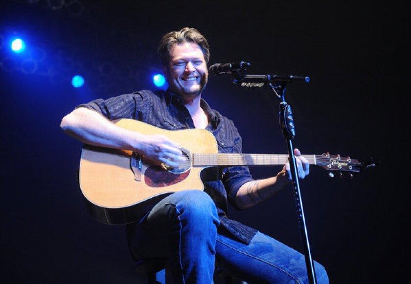 Blake Shelton performs at the Roseland Ballroom in New York.