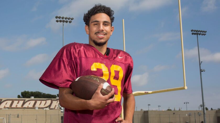 Ocean View High's Noah DeLoera is the Daily Pilot Football Player of the Week. DeLoera rushed 17 tim