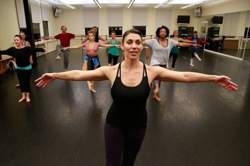Lara Segura teaches a Modern Technique class for intermediate and advanced students at Malashock Dance in Point Loma. She's a dancer, choreographer and artistic program manager for the company, and also has performed in Trolley Dances and with the Mojalet Dance Collective.